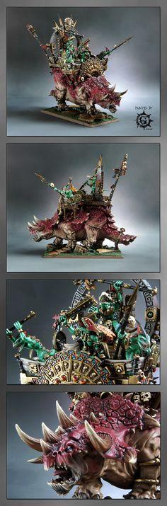CoolMiniOrNot - Lizardmen Stegadon with Engine Of The Gods Fantasy Model, Fantasy Art, Warhammer Fantasy, Warhammer 40k, Lizardmen Warhammer, Warhammer Tabletop, Fantasy Battle, Space Wolves, Fantasy Miniatures