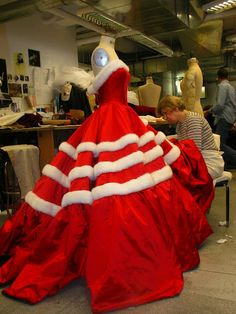 costume work white christmas finale dress dress design carrie robbins designage nyc - White Christmas Costumes