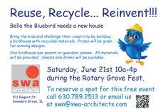 Build Bella a Birdhouse Saturday, June 21st 10a-4p Downers Grove, IL