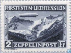 Stamps - Liechtenstein - Graf Zeppelin