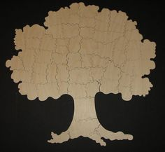 TREE Wedding Guest Book - Hand Cut Wooden Jigsaw Puzzle