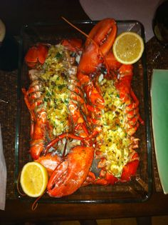 New Years! Seafood Boil, Seafood Dishes, Fish And Seafood, Lobster Recipes, Seafood Recipes, Cooking Recipes, Baked Stuffed Lobster, Dinners, Meals