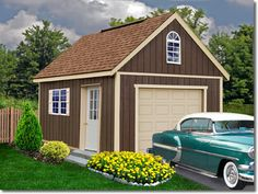 FREE SHIPPING! Backyard storage or cabin in the woods... The Glenwood by Best Barns offers a large amount of loft storage along with the perfect size single car garage. The Belmont by Best Barns pr...