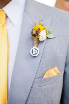 Boutonniere + Marriage Equality pin. #solidarity