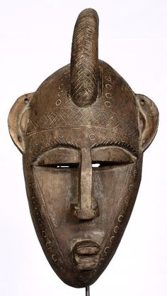 Bambara African Mask. The Bambara live in large parts of central and southern Mali. They belong to the large group of Mande, like the Soninke and Malinke.