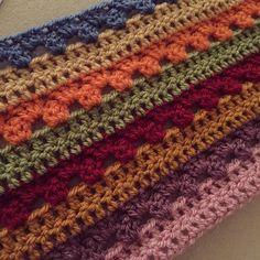 """Start of my attic 24 cosy stripe blanket  #attic24 #crochet #cosystripeblanket #wip #crochetblanket"""