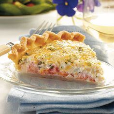 Tomato Pie from Grits and Groceries | MyRecipes.com Great place to eat!!! Saylors Crossroads, SC
