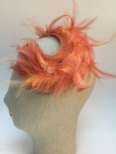 ARIEL - feather trimmed headdress. Headdress, Ariel, Christmas Stockings, Feather, Holiday Decor, Handmade, Silk Flowers, Needlepoint Christmas Stockings, Quill
