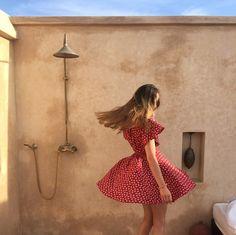 @Carolineryde #UOonYou | Kimchi Blue Jodi Red Dress