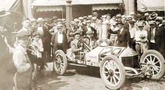"""The first running of the Pikes Peak Hill Climb was promoted by Spencer Penrose. Penrose had finished widening the narrow carriage road into a much wider """"Pikes Peak Highway."""" He decided to encourage tourists to visit by creating a race to the clouds. 1916 Pikes Peak Hill Climb Champion"""