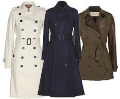 Trench Coats: Burberry Prorsum, $2,195, mythersa.com; Burberry Prorsum, $3,195, mythersa.com; Burberry Brit, $1,495, net-a-porter.com #InStyle