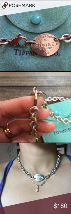 """Tiffany & Co. Choker Necklace Good condition. Need some polishing to look brand new again. 15"""" length. Comes with pouch. Authentic! Tiffany & Co. Jewelry Necklaces"""