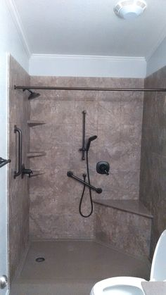 1000 images about walk in shower with bench seat on pinterest custom shower base custom - Walk in shower base ...