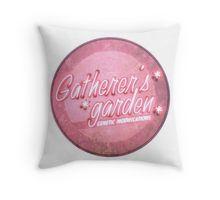 BioShock – Gatherer's Garden Genetic Modifications Logo (Bright Pink) Throw Pillow