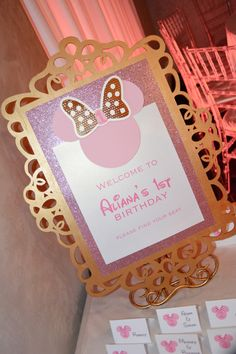 Rachel J Special Events: Pink and Gold Minnie