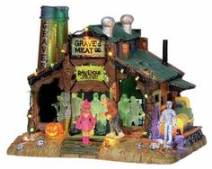 Lemax Spooky Town Rave At Grave's with Adaptor # 15202
