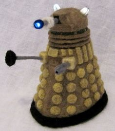 Glass Camel's Dalek - a listing of the oddest needle felted creatures around!