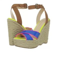 NWT Wedge sandal Bring vibrant high style to your spring look with the Enzo Angiolini™ Nomas. Synthetic upper. Adjustable buckle closure. Crisscrossed straps. Man-made lining. Lightly padded footbed. Jute-covered wedge heel and platform. Synthetic sole. Imported. Measurements: Heel Height: 5 1⁄2 in Weight: 14 oz Platform Height: 1 1⁄2   Retails$99 Enzo Angiolini Shoes Wedges