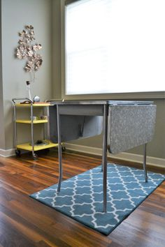 Howell 1950s Formica Top Drop Leaf Table With Chrome Legs | Retro Kitchen  Table | Space Saving Drop Leaf Table | Mid Century Modern Table
