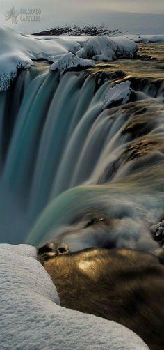 Goðafoss Golden Winter Glow | Iceland's biggest waterfalls - Goðafoss | by Mike Berenson
