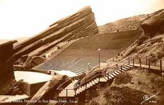 Red Rocks Theater in Red Rocks Park, Colorado - ca 1946