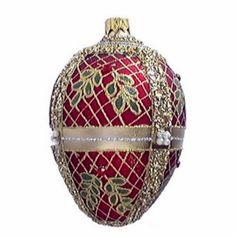 Faberge Egg Christmas Ornaments~Catherine's Palace Egg