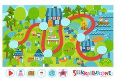 Seikkailukone | tulostettava | paperi | kartta | peli | tehtävä |  kesämökki | lapset | game | map | children | kids | free printable | Pikku Kakkonen Creative Kids, Kids Rugs, Free, School Ideas, Decor, Creativity, Hama, Decoration, Kid Friendly Rugs