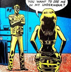 "Comic Girls Say.. "" You wanna see me in my underwear?"" #comic #vintage"