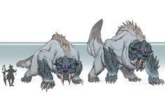 Draw Creatures ArtStation - Goliath Fallen: The Tuskers, William Bao - Monster Concept Art, Alien Concept Art, Creature Concept Art, Fantasy Monster, Curious Creatures, Magical Creatures, Fantasy Creatures, Fantasy Beasts, Fantasy Rpg