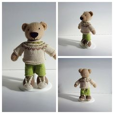 Knitted Boy Bear