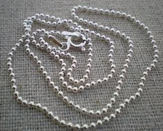 30 inch  sterling silver ball chain    build by malisaydesigns