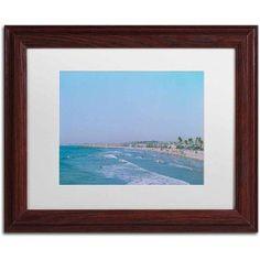 Trademark Fine Art 'Newport Beach Summer Day' Canvas Art by Ariane Moshayedi, White Matte, Wood Frame, Size: 11 x 14, Multicolor