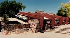 Frank Lloyd Wright, Taliesin West exterior, constructed 1937, Scottsdale, AZ, USA.