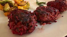Randig-Fleischlaibchen mit Joghurtdip und Grillgemüse #homemade #gemüsekiste #vetterhofrezept #lowcarb