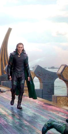 """""""…[Loki and Hela] also recognize the aesthetic value of a green cape. If you're gonna be bad, you might as well be bad with style."""" ~Tom Hiddleston (Source: Collider: http://collider.com/tom-hiddleston-thor-ragnarok-interview/#loki ) Via thehumming6ird.tumblr)"""