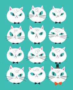 Fancy Cat Art Print - Hooray Today