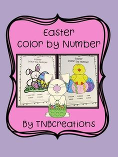 Your students will love these fun Easter Color by Number Worksheets! Perfect for number recognition, morning work, early finishers, and more!