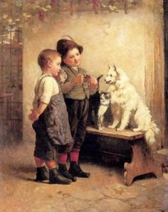 Looking For Treats by Edmund Adler 1876-1965