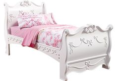 Disney Princess White 3 Pc Twin Sleigh Bed. $599.99. 95L x 40W x 52H. Find affordable Twin Beds for your home that will complement the rest of your furniture.