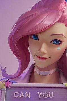 Seraphine - League of Legends   Mobile Wallpaper (1000x1500)