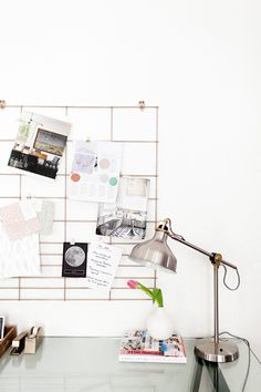 Home Office Wall Organizer diy :: copper office wall organizer (coco kelley) | office walls