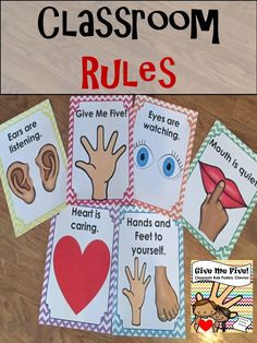 Setting rules and expectations are so important for back to school to create a classroom community! These simple and clean classroom rule posters are the perfect addition to our elementary or early childhood classroom!