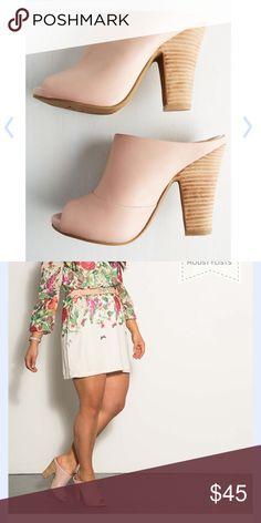 Propaganda bootie mule in soft pink Coming soon like to be notified Peep toe mules in blush or soft pink New With out tags NWOT TTS Seychelles Shoes Mules & Clogs