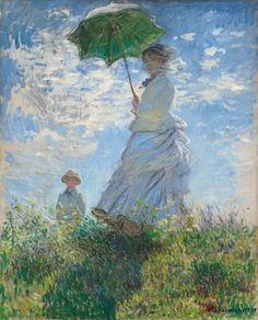 Claude Monet Print, Woman with a Parasol Poster, Claude Monet Poster, Art Reproduction, Famous Art P Renoir, Claude Monet, National Gallery Of Art, Paul Verlaine, Oil On Canvas, Canvas Prints, Big Canvas, Framed Prints, Most Famous Paintings