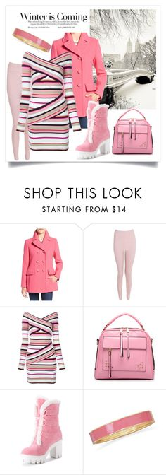 """""""Color of the Day 11/11: Pink"""" by abbyandelle ❤ liked on Polyvore featuring Kate Spade, Stephanie Rad, Boohoo, MSGM, BillyTheTree, AbbyAndElle and upstairsfashion"""