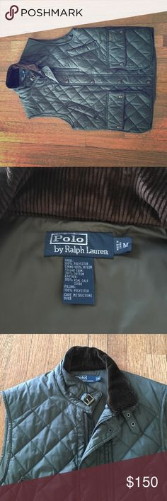 Men's Polo diamond quilted vest Ralph Lauren men's vest. Corduroy collar; excellent shape Polo by Ralph Lauren Jackets & Coats Vests