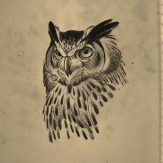 """https://www.instagram.com/opale_sasori/ @opale_sasori (this one is not mine) #illustration #neotraditionel #neotraditional #neo #traditionel #traditional #draw #drawing #tattoo #ink #tattooed #inked #sketch #sketches #flowers #animals #ink #tat #tats #neotrad #tattooartist #tattoos (@danjones_tattoo) sur Instagram : """"one for tomorrow #owl #owltattoo #tattoo"""""""