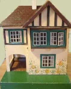 Antique & Vintage Dolls Houses Plus Vintage Style Handmade Miniatures Antique Dollhouse, Antique Dolls, Vintage Dolls, Fairy Houses, Play Houses, Doll Houses, Miniature Houses, Miniature Dolls, Dolls House Shop