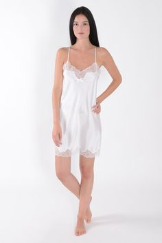 Shop by Category Lingerie Sleepwear, Nightwear, Pijamas Women, Satin Nightie, Lacy Bra, Bridal Lingerie, Fashion Outfits, Womens Fashion, Night Gown