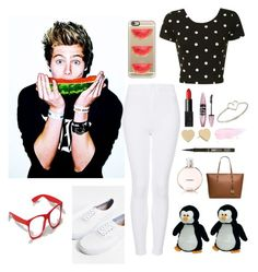 """""""Photo shoot with Luke ❤️"""" by lindseypage ❤ liked on Polyvore featuring Casetify, Topshop, Glamorous, Kate Spade, tarte, Maybelline, NARS Cosmetics, Vans, Chanel and MICHAEL Michael Kors"""